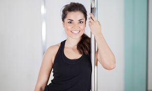 Fitness Evolution: Pole Fitness for 5 Classes/10 Classes/3 Months/Bachelorette Party at Fitness Evolution (Up to 64% Off), 2 Locations