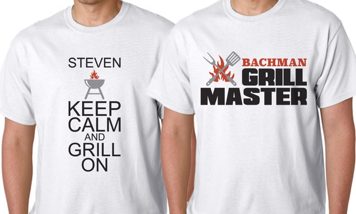 """Monogram Online: $10 for a Personalized """"Grill Master"""" T-Shirt from Monogram Online ($39.99 Value)"""