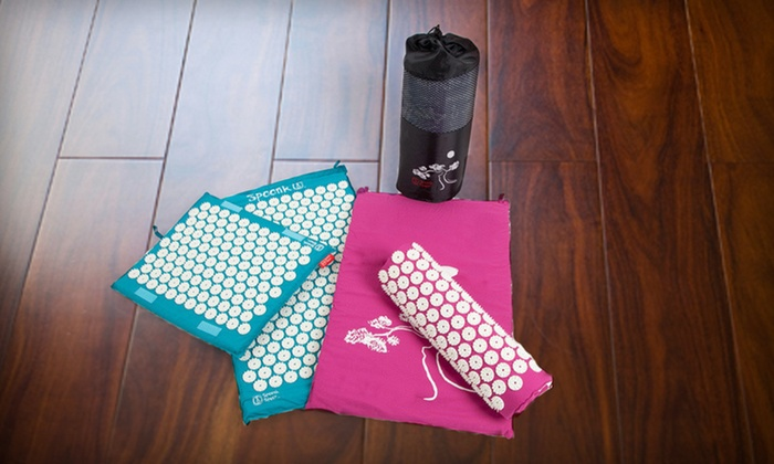 Spoonk Acupressure Mat: Spoonk Acupressure Mats and Travel Mats (Up to 55% Off). Six Options Available. Free Shipping and Free Returns.