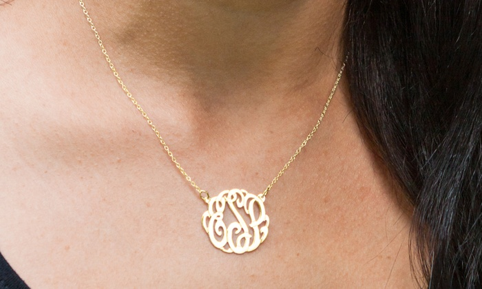 Monogramhub.com: $39 for a Monogrammed Pendant Necklace from Monogramhub.com ($109.99 Value). Free Shipping.