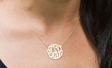 $39 for a Monogrammed Pendant Necklace from Monogramhub.com ($109.99 Value). Free Shipping.