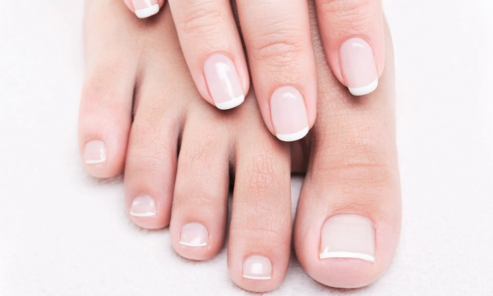 Signature or spa mani pedi a class act nail spa groupon for A class act salon