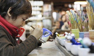 The Pottery Loft: Pottery Painting Session with Refreshments for One or Two at The Pottery Loft (Up to 46% Off)