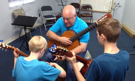 Four-Day Musical Instrument Course at Middlebury Academy of Guitar In Connecticut (50% Off)