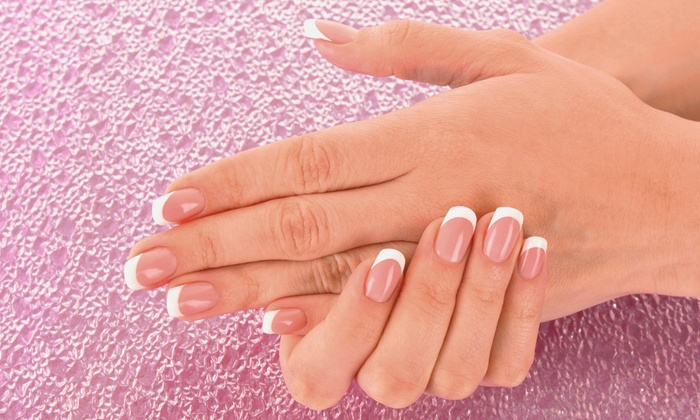 Nails by Sandi Camacho - Nashville: Pink-and-White Acrylic-Nail Enhancement with Optional Fill at Nails by Sandi Camacho (Up to 53% Off)