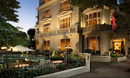 London: 1 Night for Two with Bubbly Breakfast and Optional Afternoon Tea or Dinner with Wine at 4* The Colonnade Hotel