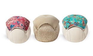 Samuel or Reina Colorful Pouf Ottoman