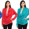 Women's Draped Long Sleeve Top