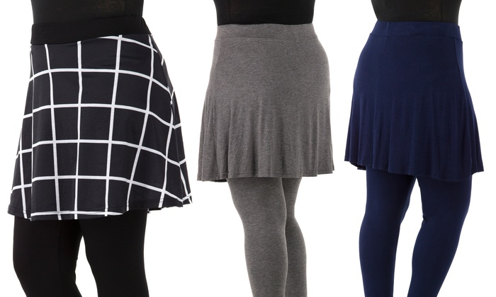 Plus Size Skirted Leggings - Trendy Clothes