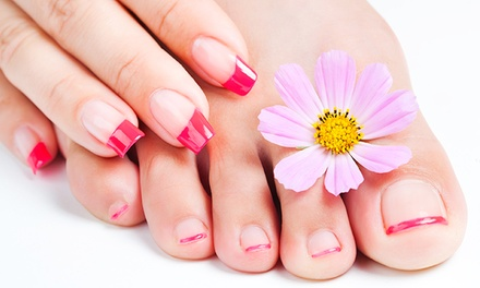 Shellac Manicure with Optional Spa Pedicure or Spa Mani-Pedi at Elite Full Spa (Up to 53% Off)