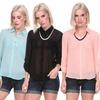 Stanzino Women's Button-Up Blouse