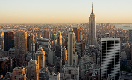 groupon daily deal - Stay at Days Inn Hotel New York City-Broadway on Manhattan's Upper West Side. Dates into July.