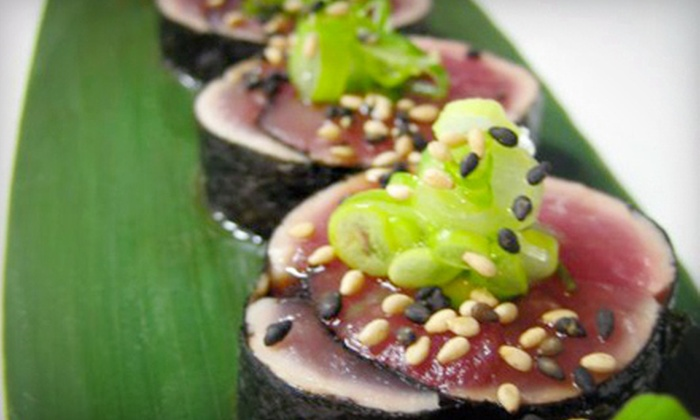 District - Leslieville/Riverdale: $39 for a Sushi and Sake Dinner for Two with Miso Soup or Edamame and Maki Rolls at District (Up to $80 Value)