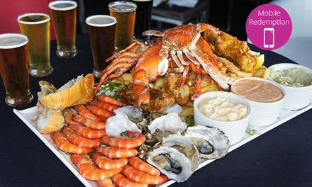 Seafood Platter Tasting Paddle The Illawarra Brewery
