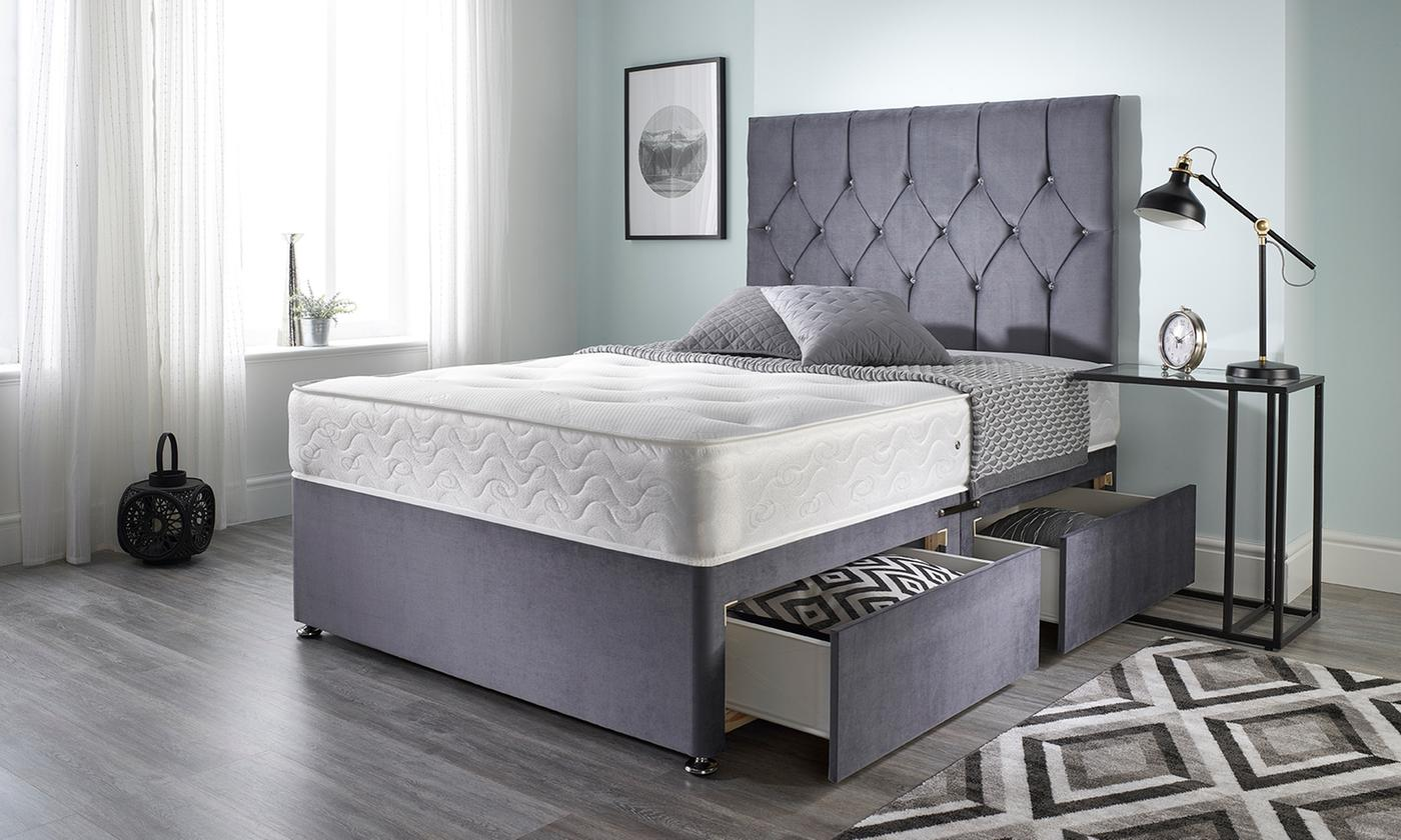 Charcoal Daisy Divan Bed