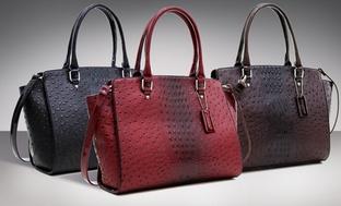 Dasein Catlia Ostrich & Croco Fusion Bag