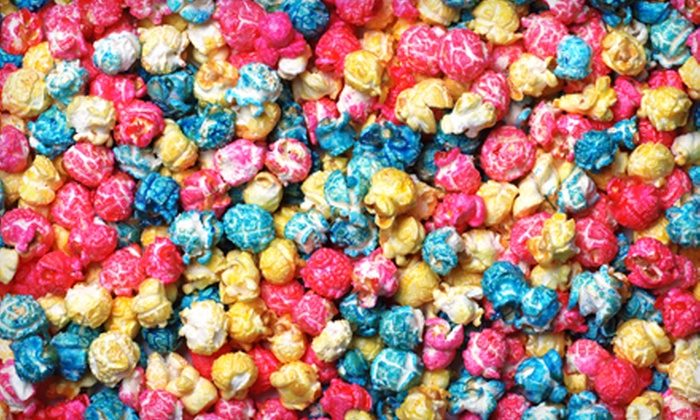 PJ's Popcorn - The Emporium: Candy and Popcorn or Deluxe Popcorn Gift Box at PJ's Popcorn (50% Off)