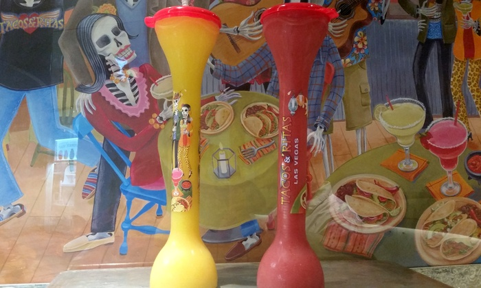 Tacos N' Ritas - Multiple Locations: $14 for Two 32-Ounce Margaritas in Souvenir Cups at Tacos N' Ritas ($44 Value)
