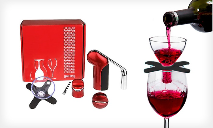 Houdini Wine-Accessories Gift Set: $23 for a Metrokane Houdini Wine-Accessories Set ($66 List Price). Four Colors Available. Free Shipping and Returns.