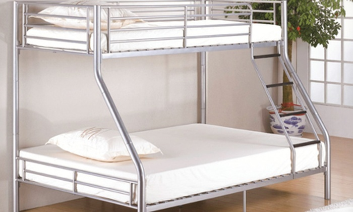Triple bunk bed groupon goods for Beds groupon