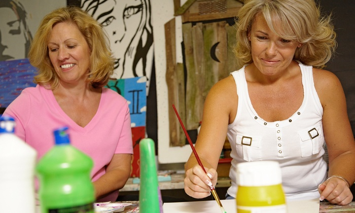 Merlot's Masterpiece - U Street - Cardozo: Simply Paint Class for One or Two at Merlot's Masterpiece (Up to 50% Off)