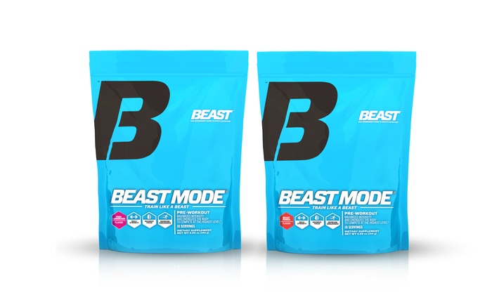 2 10 Serving Packs Of Beast Mode Pre Workout Supplement