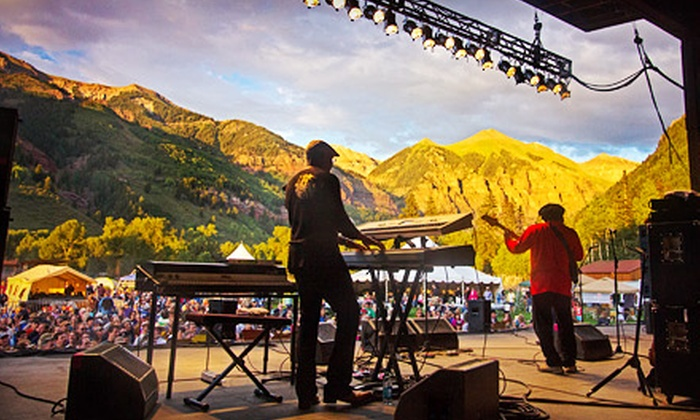 37th Annual Telluride Jazz Festival - Telluride Town Park: Three-Day Passes with Optional Camping at the 37th Annual Telluride Jazz Festival, August 2–4 (Up to 53% Off)
