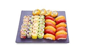 Eat Sushi St Etienne: 1 Menu EAT 20 ou EAT 40 comprenant 20 ou 40 pièces de sushis à emporter dès 13 € chez Eat Sushi Saint Etienne