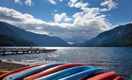 1- or 2-Night Stay for Two at Lake Crescent Lodge in Olympic National Park, WA. Combine Up to 4 Nights.