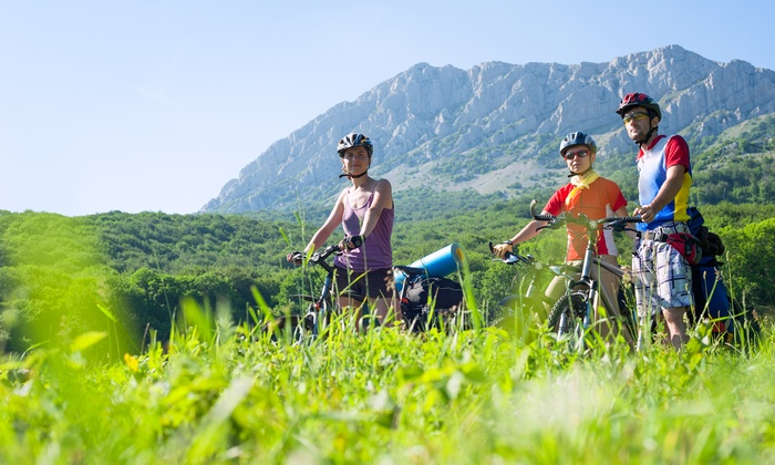 Challenge Unlimited - Pikes Peak by Bike - Old Colorado City: Morning Bike Tour for One or Two with Equipment and Meals (Up to 47% Off)
