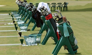 The Aqua Golf Driving Range: One or Two Buckets of Balls with Beer or Soda, or 30- or 60-Minute Lesson at The Aqua Golf Driving Range