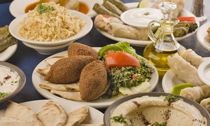 Almustafa: Middle Eastern Banquet with Wine for Two ($49), Four ($97) or Six People ($145) at Almustafa (Up to $309 Value)