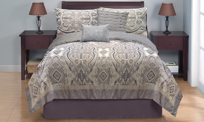 Casa Couture 5-Piece Oversize Comforter Set: Casa Couture 5-Piece Oversize Comforter Set in Full/Queen or King from $64.99–$69.99. Free Returns.