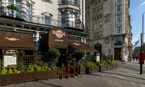 Hard Rock Cafe, Park Lane: Hard Rock Cafe Dining Experience: Two Courses with Choice of Cocktail plus Unique Memorabilia Tour (Up to 53% Off)