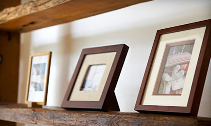 """Frameworks - Plymouth: 8""""x10"""" Digital Photo with White Mat and 1"""" Black Frame or $40 for $100 Worth of Custom Framing at Frameworks"""