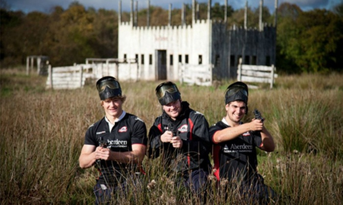 Bedlam Paintball - Multiple Locations: Paintballing For Five (£6) or Ten (£10) With Extras or One-Year Membership (£19) at Bedlam Paintball (Up to 97%)
