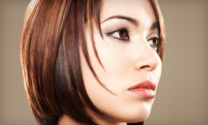 Innovations Day Spa - Luxury Lashes by Jessica within Innovations Salon & Day Spa: $79 for a Salon Package with Haircut, Color, and Nail Services at Innovations Day Spa in Liverpool (Up to $298 Value)