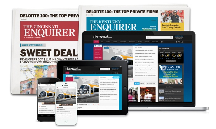 The Enquirer: 26-Week or 52-Week Full Access Subscription with Sunday Delivery of the The Enquirer (Up to 84% Off)