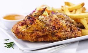 Peters Grill: 1/2 Hähnchen mit Pommes und Kaltgetränk (0,3 l) für 1 oder 2 Personen bei Peters Grill (bis zu 44% sparen*)