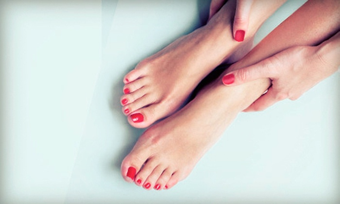 The Ivy Tanning Salon and Spa - Southampton: Classic Pedicure or Shellac Manicure at The Ivy Tanning Salon and Spa (Half Off)