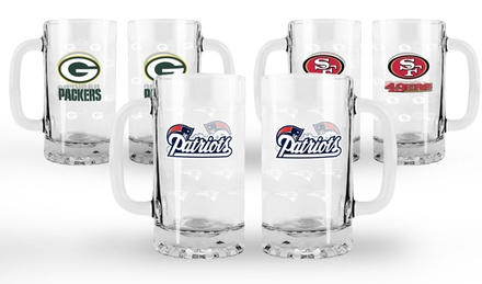 NFL Satin-Etched Tankards (Set of 2)
