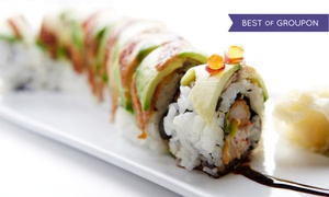 Tabu Sushi Bar & Grill: Sushi and Japanese Food at Tabu Sushi Bar & Grill (Up to 47% Off). Three Options Available.