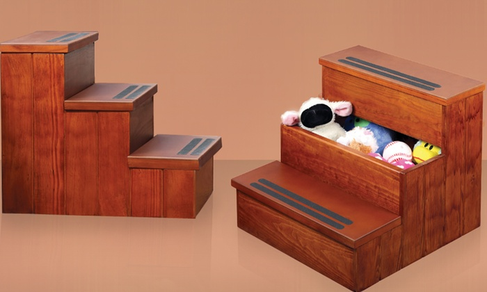 Genial Wooden Pet Steps With Storage Wooden Pet Steps With Storage