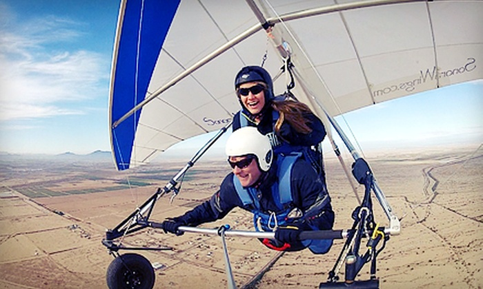 Sonora Wings Hang Gliding - Copper Mountain Ranch: $119 for Tandem Discovery Hang-Gliding Flight at Sonora Wings Hang Gliding ($250 Value)