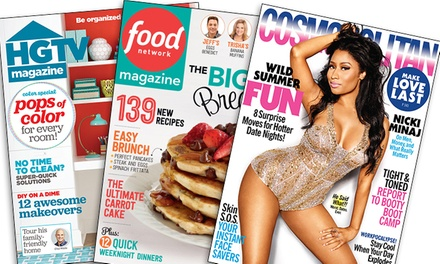 Year Subscription to Cosmo, Oprah, Food Network, HGTV, or Dr. Oz Magazine from Hearst Magazines (Up to 56% Off)