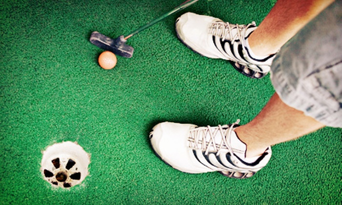 Golf Zone - Golf Zone: Mini Golf for Four or Eight with Beverages and Large Pizzas at GolfZone (Up to 54% Off)