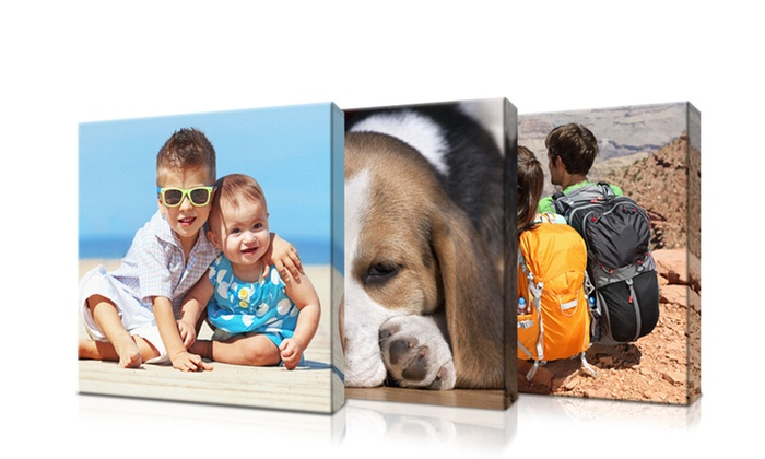 "Picture It On Canvas: 6""x6"", 8""x8"", 10""x10"", or 16""x16"" Personalized Square Canvas from Picture It On Canvas (Up to 89% Off)"