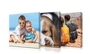 "Picture it on Canvas: 6""x6"", 8""x8"", 10""x10"", or 16""x16"" Custom Thin-Bar Gallery-Wrapped Canvas from Picture It on Canvas (Up to 89% Off)"