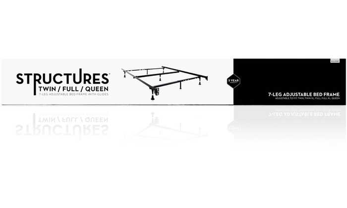 structures adjustable metal bed frame groupon. Black Bedroom Furniture Sets. Home Design Ideas