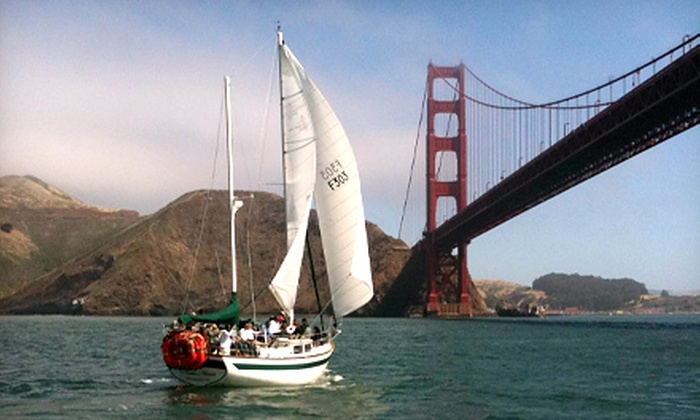San Francisco Sailing Company - San Francisco: 90- or 120-Minute Sailing Trip for Two with Drinks from San Francisco Sailing Company (Half Off)